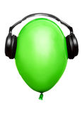 Headphones and balloon Royalty Free Stock Photo