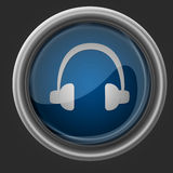 Headphones beautiful icon Royalty Free Stock Images