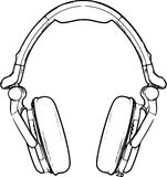 Headphone Sketch Stock Photo