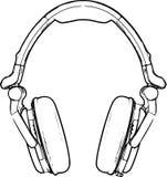 Headphone Sketch Stock Photo