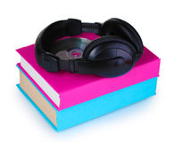 Headphones on books Royalty Free Stock Photos