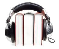 headphones and books   Stock Photo