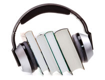 Headphones and books Royalty Free Stock Images