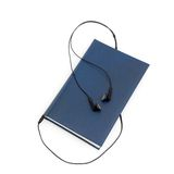 Headphones and books (audio book concept) Royalty Free Stock Photography