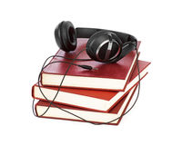 Headphones and books Royalty Free Stock Photos