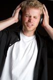 Headphones Boy Stock Images