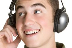 Headphones Boy Royalty Free Stock Photos