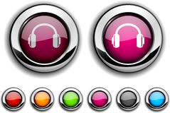 Headphones button. Stock Photography