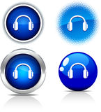 Headphones buttons. Royalty Free Stock Image