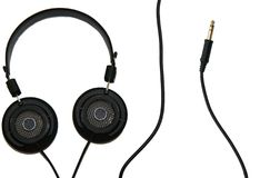 Headphones and Cable royalty free stock photography