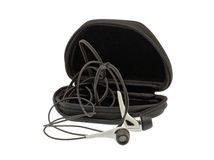 Headphones and case Stock Images