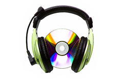 Headphones and CD Royalty Free Stock Images