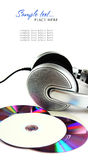 Headphones and CD Royalty Free Stock Photos