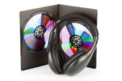 Headphones with CD Royalty Free Stock Photography