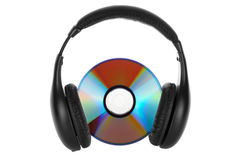 Headphones with CD Royalty Free Stock Photo