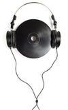 Headphones on CD Royalty Free Stock Photography