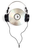 Headphones on CD Stock Images