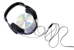 Headphones & cd Royalty Free Stock Images