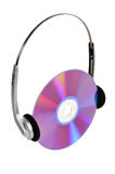 Headphones and CD Royalty Free Stock Photography
