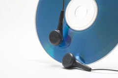 Headphones and cd Stock Photography