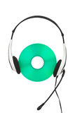 Headphones and cd Stock Images