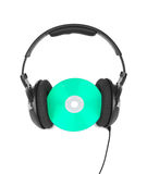 Headphones and cd Stock Image