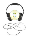 Headphones and cd Royalty Free Stock Photo