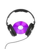 Headphones and cd Stock Photo