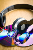 Headphones with cd Stock Photos
