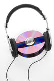 Headphones and CDs Stock Images