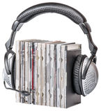 Headphones with CDs Stock Photos