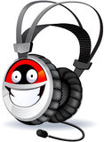 Headphones character. Stock Photography