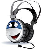 Headphones character Royalty Free Stock Photo