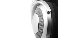 Headphones close-up Stock Photography