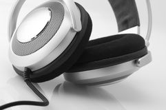 Headphones close-up Stock Photos