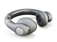 Headphones close-up  on white background. 3d. Royalty Free Stock Photos