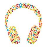 Headphones consist of dots Stock Image