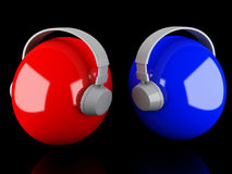 Headphones 3D. Icon Stock Image