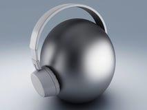 Headphones 3D. Icon Stock Images