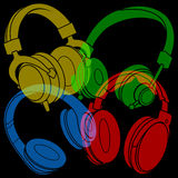 Headphones Design Royalty Free Stock Photo