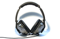 Headphones for DJ. Headphones grey for DJ and music Royalty Free Stock Photography