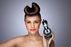 The headphones fashion. Royalty Free Stock Photos