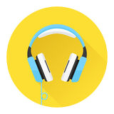 Headphones flat icon Royalty Free Stock Photos