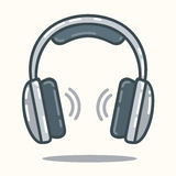 Headphones in flat style Stock Photos