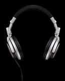 Headphones Floating on Air. A pair of DJ style headphones isolated on black Stock Photography