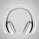 Headphones front view icon. 3d. Stock Images