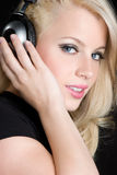 Headphones Girl Stock Images