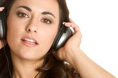 Headphones Girl Royalty Free Stock Photos