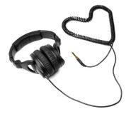 Headphones with heart Royalty Free Stock Photo