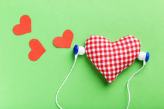 Headphones and heart Royalty Free Stock Photos